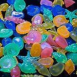 kids toys GCX 60 piezas de piedras coloridas de concha de guijarro en la oscuridad para acuario acuario peces (color mezclado) exquisito