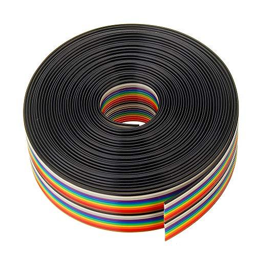 YALIXING JJBHD Electronic Accessoires & Supplies 5 stücke 5m 1,27mm Pitch-Band-Kabel 20P Flacher Farbe Regenbogen-Band-Kabel-Kabel-Rainbow-Kabel Um Ihnen die Qualität der Exzellenz bereitzustelle