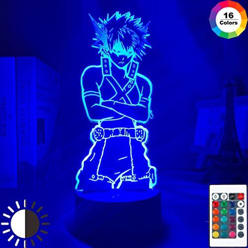 Led Nachtlicht My Hero Academia Katsuki Bakugo Figur für Kinder Kind Schlafzimmer Dekor Nachtlicht Farbwechsel Schreibtisch 3d Lampe Geschenk