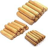 Espigas de Madera,30PCS Tacos de Madera M6 M8 M10 Juego de Clavijas de Madera Tapones de madera Tacos Ranurados para muebles cajones de cama carpintería proyectos de arte artesanía 30mm