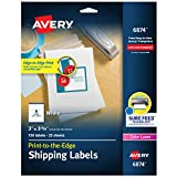 Avery Shipping Labels with Sure Feed, Print-to-the-Edge, 3' x 3-3/4', 150 White Labels (6874)