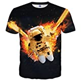 Yasswete Unisex Graphic Tees 3D Printed Shirts Tops Size XXL