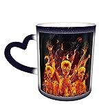 Happy Rock Humanity Skulls Dancing Color Changing Mug In The Sky Tazza in ceramica Tazza da caffè Regalo di compleanno di Natale