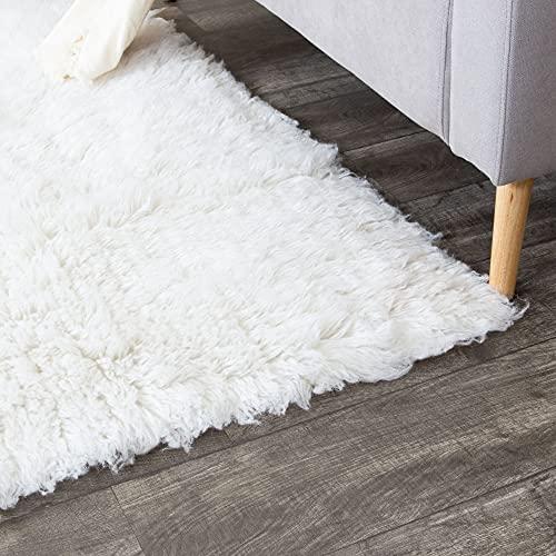 Hot Sale Hand-woven Flokati White Shag Rug Natural New Zealand Wool (9 feet X 12 feet)