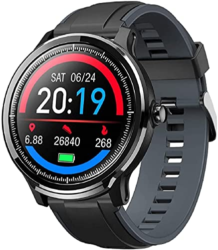 Smartwatch Reloj Inteligente con un Correa Verde Oscuro Reemplazable Impermeable IP68 Pulsera Actividad Monitor de Sueño Calorías Podómetro Pulsómetro Notificación de Llamada y Mensaje Hombre Muj