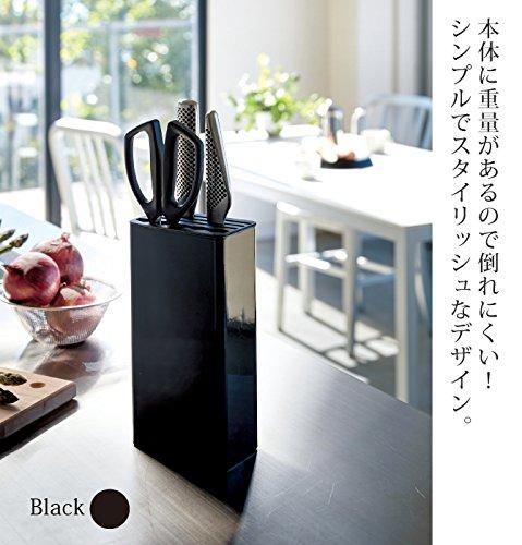 山崎実業『キッチンナイフ&ハサミスタンドタワー』