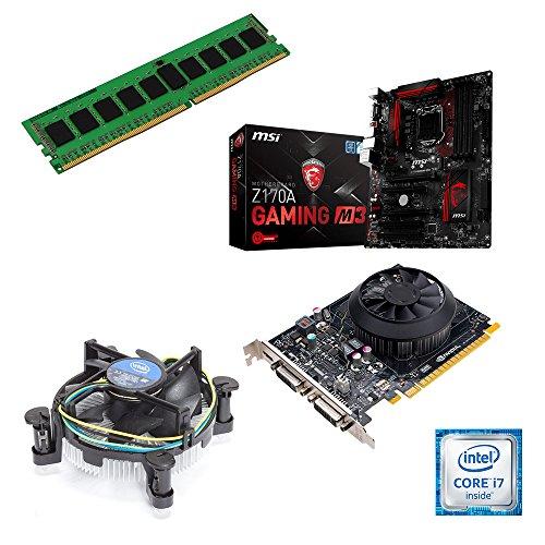 One - Kit de actualización completo para ordenador (Intel Core i7-4770K Haswell, 4 x 3,50 GHz, placa base: MSI Z87-G45, memoria de trabajo: 4 GB: 1 x 4096 MB de RAM DDR3, 1333 MHz) 8192 MB de memoria DDR3 NVIDIA GTX650 2048 MB