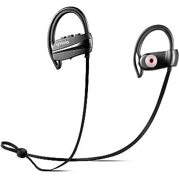 yobola Ultra-Longue Autonomie Écouteurs Bluetooth 4.1 sans Fil Oreillette Intra Auriculaire Casque Sport Etanche Réduction du Bruit avec Microphone - 11 Heures de Lecture de Musique