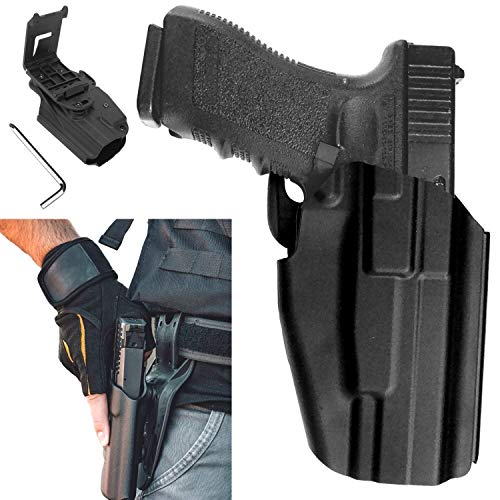 Gun Holster OWB Pistol Paddle Tactical Active Waistband Belt Loop Quickdraw CQC Concealment for Glock, S&W M&P, H&K, Beretta & Sig Sauer