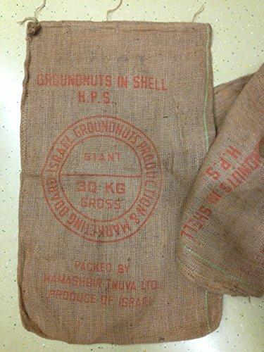 Jutesack - Kaffeesack - Nusssack - gebraucht - Deko - ca. 70x110 cm dichtes, starkes Gewebe, der Aufdruck entspricht dem Bild!