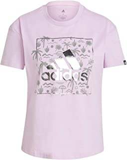adidas Women's W FOIL BOS G T GRAPHIC TEE (SHORT SLEEVE)