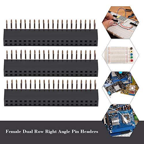 3PZ 2,54 mm Pin Headers 2x20 Pin,hoek Breakaway 2 printplaat PCB Board-connector Kit voor Raspberry Pi, PCB-kaart, geïntegreerde schakeling van uw RPS-interface