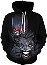 JYK-LQM Unisex Realistic 3D Graphic Printed Pullover Hoodie Cool Pattern Long Sleeve Hooded Sweatshirt with Pockets