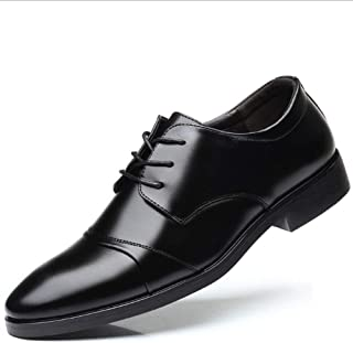 [XIPAI] ビジネスシューズ ストレートチップ 紳士靴 軽くて通気性 快適な足感 革靴 本革 高級靴 ブラック/ダークブラウン