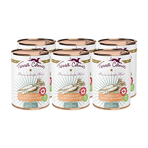 Terra Canis – Morosche Karottensuppe I schnelle Hilfe bei Durchfall in 100% Lebensmittelqualität der Rohstoffe I allergenarm, getreidefrei & glutenfrei (6 x 400g)