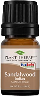 Plant Therapy Sandalwood Indian Essential Oil 5 mL (1/6 oz) 100% Pure, Undiluted, Therapeutic Grade