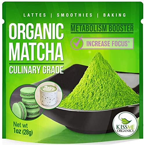 Organic Matcha Green Tea Powder - Powerful Antioxidant Japanese Culinary Grade - 1oz (28 grams)...