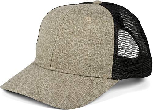 styleBREAKER Unisex 6-Panel Snapback Cap Moteado con inserción de Malla en la Parte Posterior, Baseball Cap, Basecap, Ajustable 04023079, Color:Braun Meliert/Schwarz