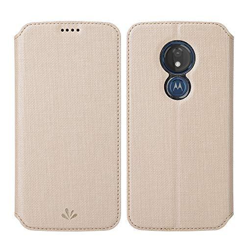 Eastcoo Kompatibel mit Motorola Moto G7 Power Hülle PU Leder Flip Hülle Tasche Cover Schutzhülle mit [Standfunktion][Magnetic Closure][Wallet]für Moto G7 Power Smartphone(Moto G7 Power, Gold)