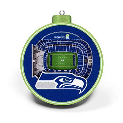 YouTheFan NFL Seattle Seahawks - CenturyLink Field 3D StadiumView Ornament3D StadiumView Ornament, Team Colors, Large