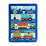 EVERYDAY KIDS Toddler Throw Blanket - 30' by 40' - Choo Choo Train - Super Soft, Plush, Warm and Comfortable