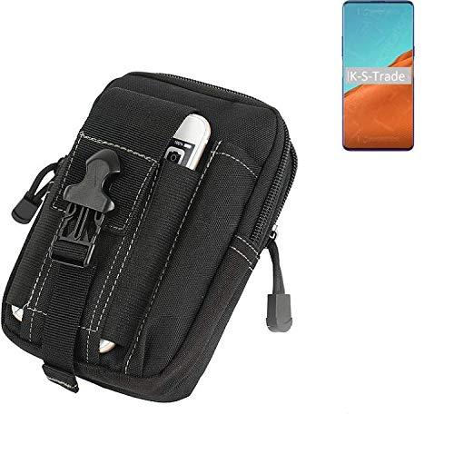 K-S-Trade Gürtel Tasche Kompatibel Mit Nubia X 5G Gürteltasche Holster Schutzhülle Handy Hülle Smartphone Outdoor Handyhülle Schwarz Zusatzfächer