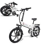 Not application Bicicletas Electricas Plegables,350W Motor Bicicleta Plegable 35 km/, Bici Electricas Adulto con Ruedas de 26', Batería48V 10Ah, Asiento Ajustablewhite