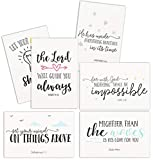 Inspirational Cards with Envelopes, Bible Verse Cards (4 x 6 Inches, 48-Pack)