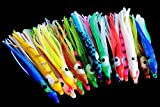 Tigofly 20 Stück 6 cm Tintenfisch Gummiröcke weiche Oktopus Angelköder Hoochie Köder Sabiki Tackle Craft Angelzubehör