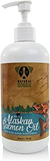 Natural Doggie Wild Alaskan Salmon Oil for Dogs & Cats, Rich in Omega-3 Fatty Acids, EPA and DHA, Supports Joints, Immune and Heart Health, Healthy Skin and Coat, Made in USA
