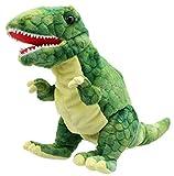 Lashuma T - Rex Handpuppe Grün, Plüschtier Dinosaurier als Kasperpuppe und Einschlafhilfe, Weiche...