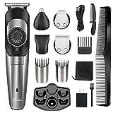 Hatteker Beard Trimmer for Men Hair Clipper Cordless Body Moustache Nose Hair Groomer Kit Precision Trimmer 5 in 1 USB Rechargeable