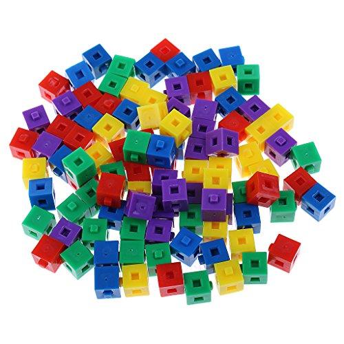 F Fityle Rompecabezas 3D Cubos Apilables Ladrillos de Construcción Linking Cube Kids 200x