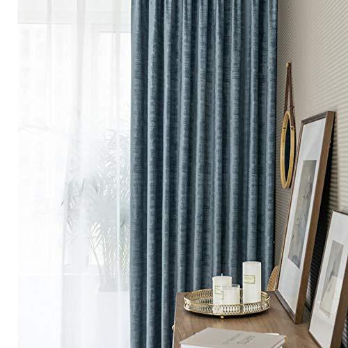 Super Weich Luxus Samt Vorhang,Dekorieren Schwerer Verdunkelung Energieeffiziente Gardinen,Schwergewichts Thermo Isolierend Vorhänge Vorhang