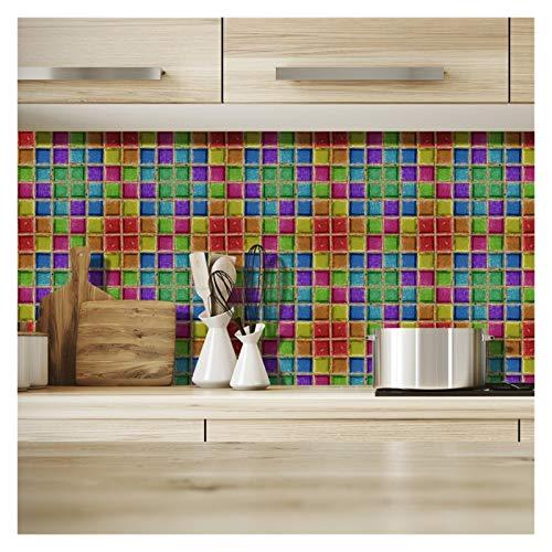 ZHJKK 19 Teile/Satz Mandala Stil Wandaufkleber Kreative Wandtattoos Hintergrundbilder für Wandküche Wohnkultur Wandbild (Color : G)
