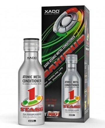 XADO Olio motore additivo con Revitalizant per la protezione contro l'usura e riparazione - condizionatore di metalli atomici - Maximum Revitalizant 1Stage, 225ml