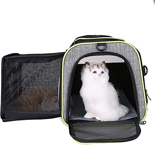 Mochila portadora de mascotas, bolsa de viaje para mascotas Bolsa de portador de gato para perros grande Carrera de transporte de viaje Aerolínea APRENDIZADA APPROVADA PORTEPLE PORTE PORT POR PORT POR