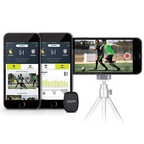 Zepp Fußballtracker - Fitnesstracker für Spielerstatistiken - Echtzeit-Fußballtracking für erkenntnisreiche Einzel und Teamstatistiken - inklusive Sensorverfolgung und Videovisualisierung