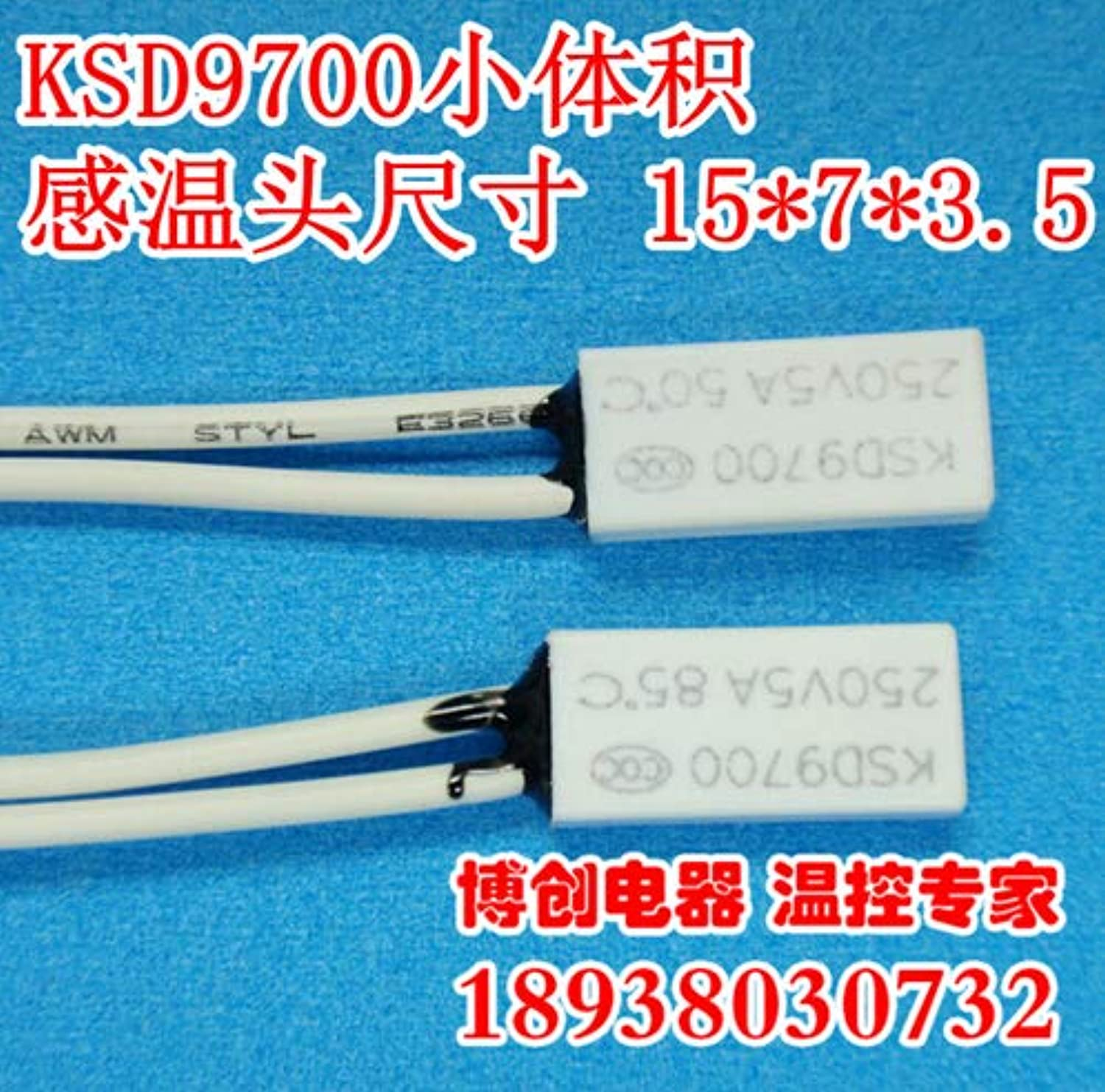 20pcs Thermostat KSD9700 TB05 75 Degrees 5A250V Normally Closed N.C Thermal Predector Temperature Switch Volume 15  7  3.5mm