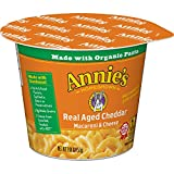 Annie's Macaroni and Cheese, Microwave Cups, Pasta & Real Aged Cheddar Mac and Cheese, 2.01 oz Cup...