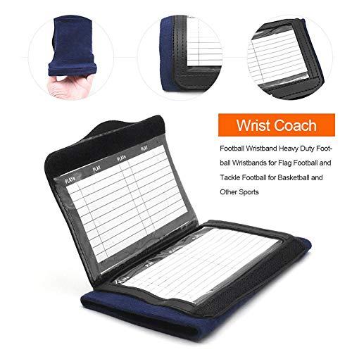 atteryhui QB Wrist Coach, Playbook Wristband Hochleistungsfußball-Armbänder für Jungen mit DREI Ablagefächern für Flag Football und Tackle Football