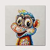 Pintar por Numeros Pintura por Números Animales Perro Gato León Tigre Dibujo al óleo de Dibujos Animados sobre Lienzo Pintura acrílica Pintada a Mano Decoración para el hogar 40x50cm