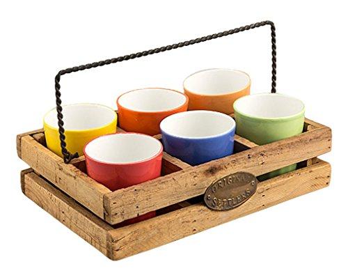 Clay Craft Pyaala Chika Set, 150ml/4.6cm, 7-Pieces, Multicolour, Standard