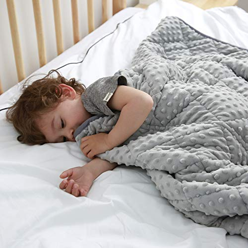 MAXTID Weighted Blanket for Kids 5lbs 36x48 Toddler Heavy Blanket...