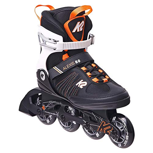 K2 Skates Damen Alexis 80 orange Inline Skates, black-purple, 40 EU (6.5 UK)