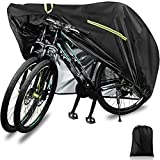Bike Covers Outdoor Storage Waterproof, 210D-XXL for 2 or 3 Bikes, Bicycle Cover Dust Sun Rain Wind Proof with Reflective Strips Lock Hole for Mountain Road Bike Motorcycle