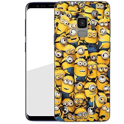 Hülle für Samsung Galaxy S9 - Minions Handyhülle mit Motiv und Optimalen Schutz Tasche Case Hardcase Cover Schutzhülle - Minions Menge
