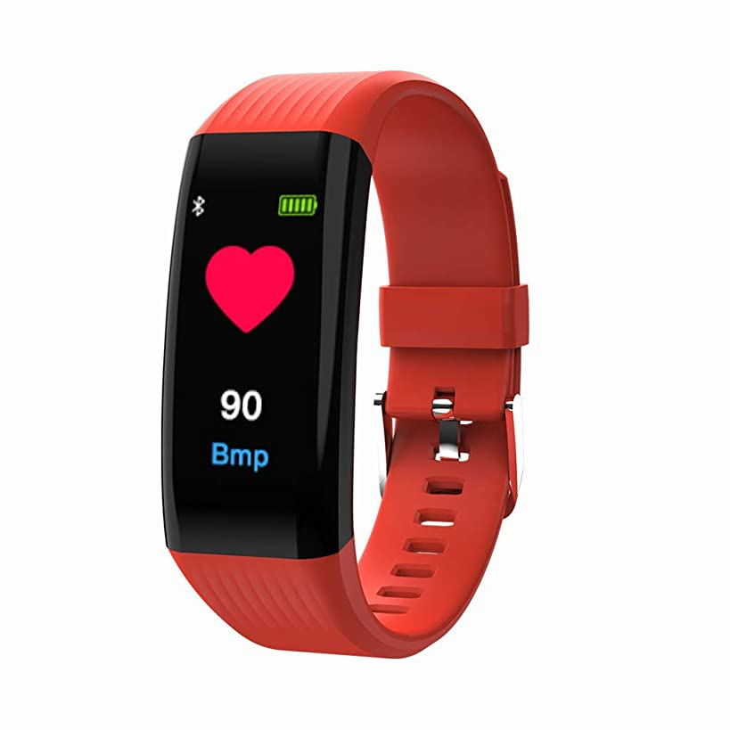 Kids/Adults Fitness Tracker - 0.96inch Screen Heart Rate Activity Step Counter Calorie Plating Smart Bracet (Red)