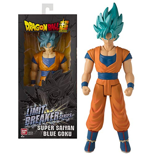 BANDAI Dragon Ball Action Figure Gigante Limit Breaker da 30 cm-Super Saiyan Goku Blue-36731, 36731