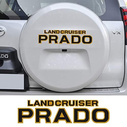 Dmwfaker für Toyota Land Cruiser Prado, Auto-Aufkleber, Vinyl-Aufkleber, Reserverad-Aufkleber, Auto-Ersatzreifen, Schwarz / Grau